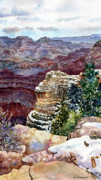 Painting - Grand Canyon Winter Day by Anne Gifford