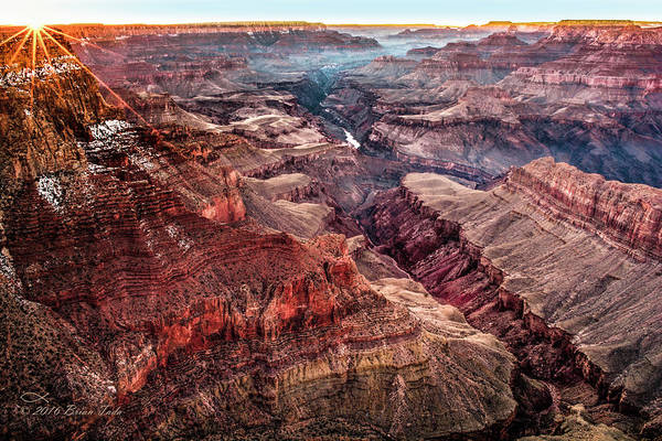 Grand Canyon Winter Sunset Art Print
