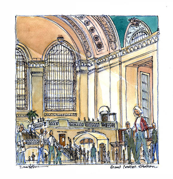 Grand Central Painting - Grand Central Station  by Dan Nelson