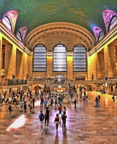 Wall Art - Photograph - Grand Central Station Main Concourse # 2 by Allen Beatty