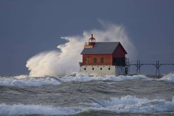 Photograph - Grand Haven Lighthouse - Michigan by Rick Veldman