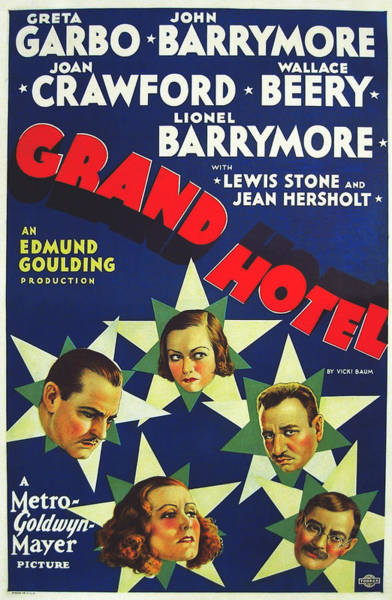 Wall Art - Photograph - Grand Hotel Vintage Movie Poster 1931 by Mountain Dreams