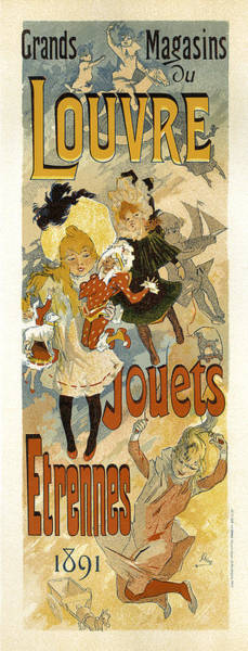 Painting - Grand Magasin Louvre Jouets 1891 Vintage French Advertising by Vintage French Advertising