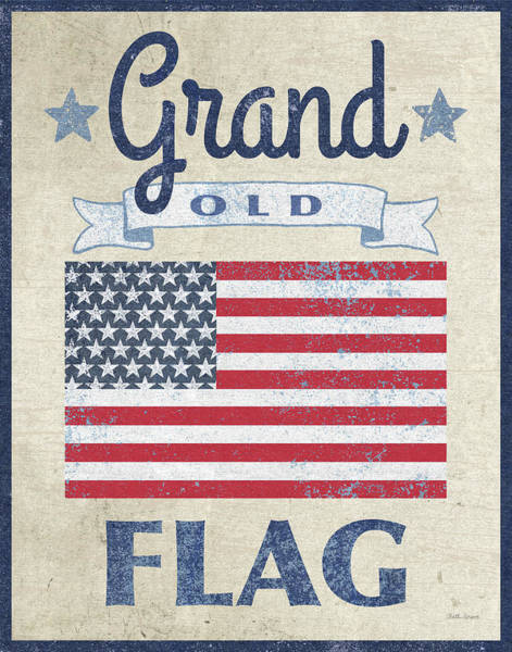 Wall Art - Painting - Grand Old Flag Dark by Beth Grove