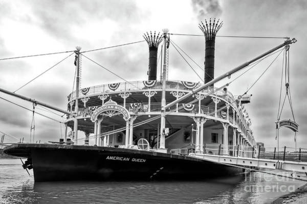 Photograph - Grand Old Riverboats Black And White by Mel Steinhauer