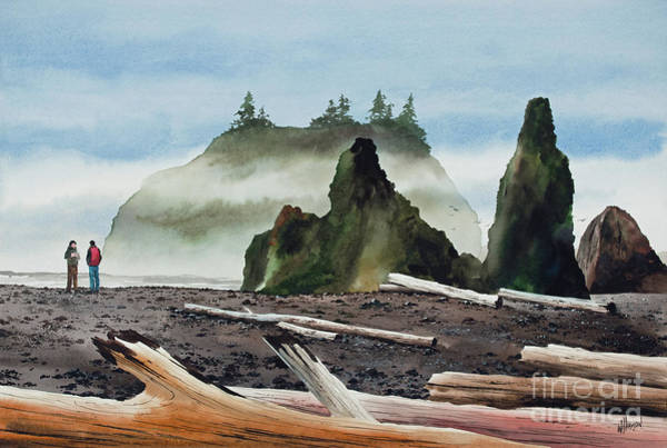 Wall Art - Painting - Grand Pacific Shore by James Williamson