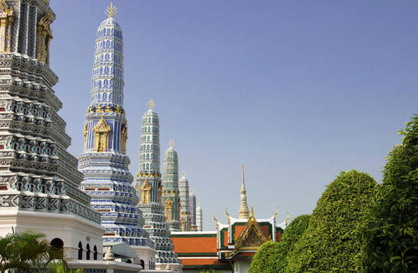 Art Object Photograph - Grand Palace In Bankok, Thailand by Georgeclerk