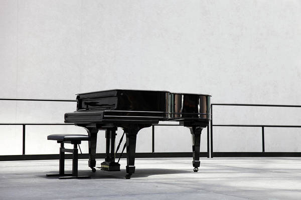 Learning Photograph - Grand Piano On Stage by Sebastian-julian