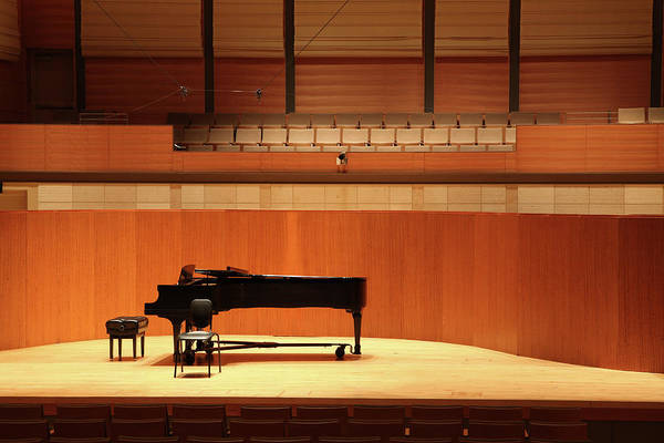 Auditorium Photograph - Grand Piano On Stage by Yenwen