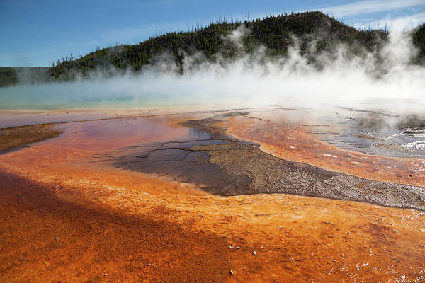 Sulphur Photograph - Grand Prismatic Spring Geyser In by Rafalkrakow