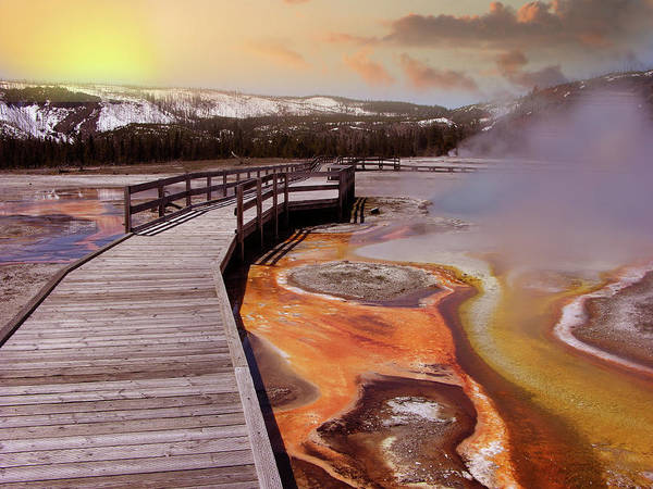 Prismatic Wall Art - Photograph - Grand Prismatic Spring by Images Etc Ltd