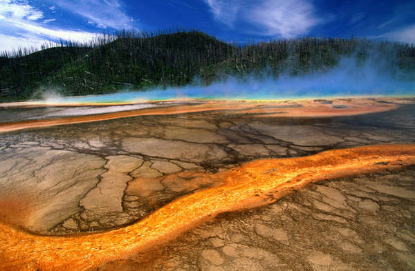Prismatic Wall Art - Photograph - Grand Prismatic Spring In Midway Basin by John Elk Iii