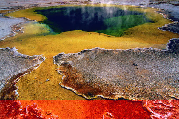 Prismatic Wall Art - Photograph - Grand Prismatic Spring by Photographed By Daniel Perez, Santa Ana, Ca.