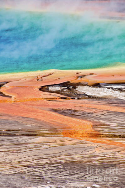 Wall Art - Photograph - Grand Prismatic Spring Yellowstone Vertical by Delphimages Photo Creations