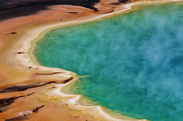 Geysers Photograph - Grand Prismatic Symphony by Marc Shandro