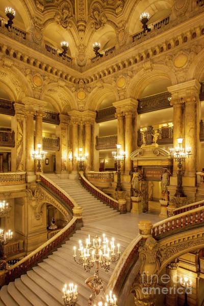 Photograph - Grand Staircase Palais Garnier by Brian Jannsen