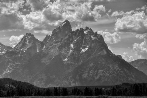 Photograph - Grand Teton Black And White by Chance Kafka