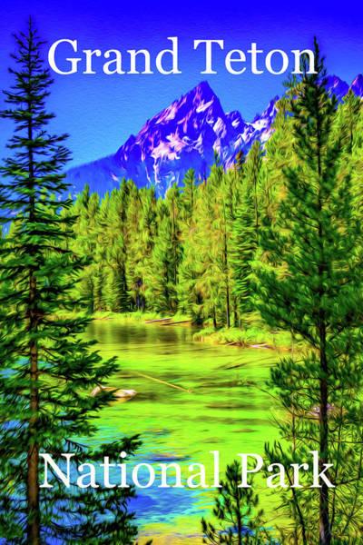 Teton National Park Digital Art - Grand Teton National Park by Aaron Geraud