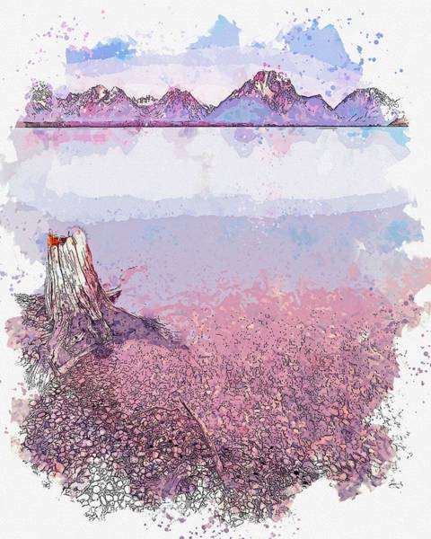 Painting - Grand Teton National Park, United States -  Watercolor By Adam Asar by Celestial Images