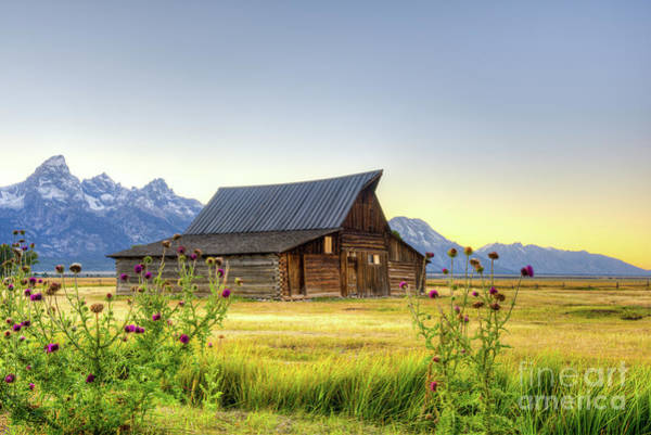Photograph - Grand Tetons At Sunset by Paul Quinn