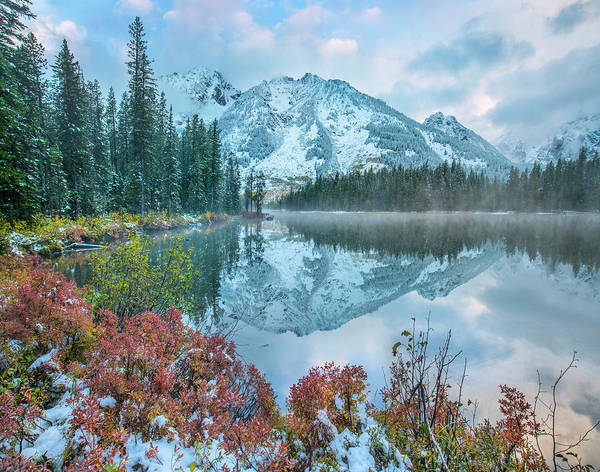 Photograph - Grand Tetons From String Lake by Tim Fitzharris