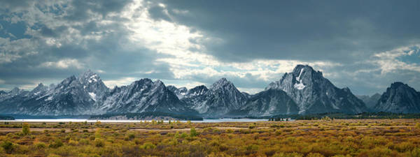 Wall Art - Photograph - Grand Tetons In Dramatic Light by Ed Freeman