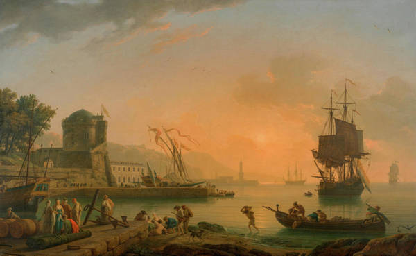 Wall Art - Painting - Grand View Of The Sea by Claude-Joseph Vernet