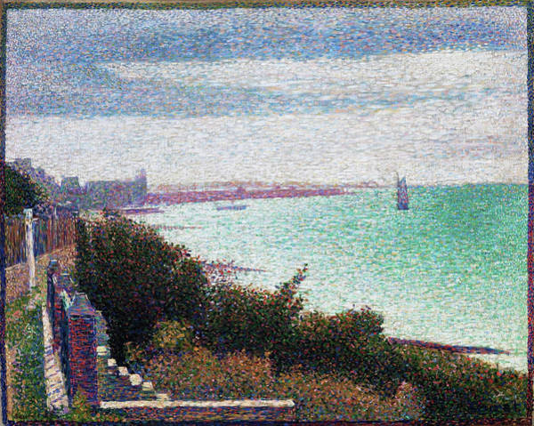 Wall Art - Painting - Grandcamp, Evening - Digital Remastered Edition by Georges Seurat