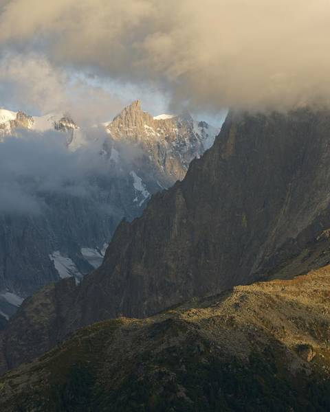 Photograph - Grandes Jorasses And Grepon by Stephen Taylor
