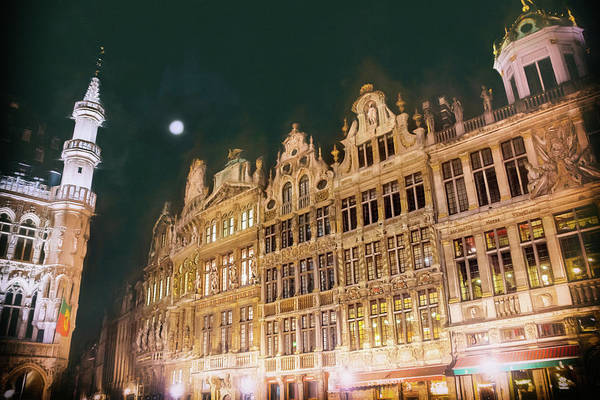 After Dark Photograph - Grandeur Of The Grand Place Brussels By Night by Carol Japp