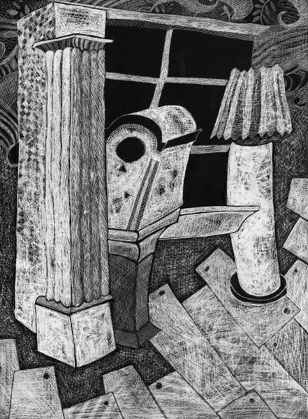 Drawing - Grandfather Clock by Cindy Suter