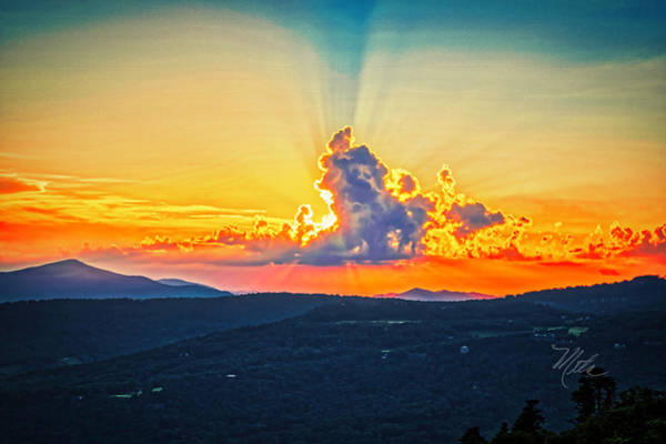 Photograph - Grandfather Mountain Summer Sunset by Meta Gatschenberger