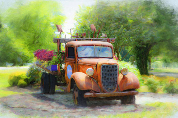 Wall Art - Photograph - Grandmas Old Truck by Diane Lindon Coy