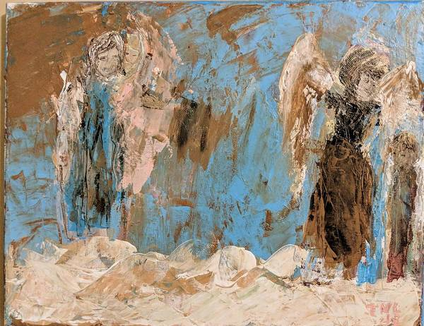 Painting - Grandmother Angels by Jennifer Nease