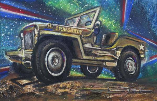 Pastel - Grandpa Willie's Willys Jeep by Eric Dee