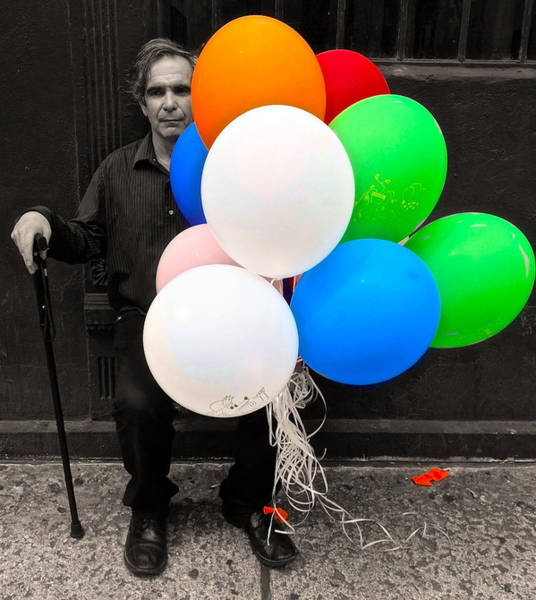 Photograph - Grandpops Balloons by Joan Reese