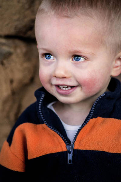 Photograph - Grandson At Two by Don Johnson