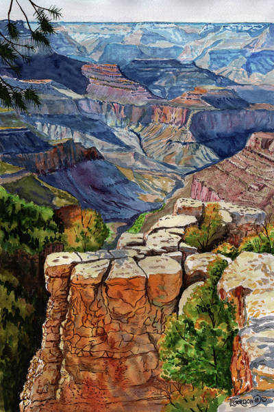 Outcrop Painting - Grandview Point by Timithy L Gordon