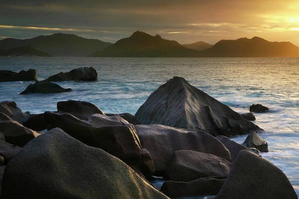 Severe Wall Art - Photograph - Granite Rocks At Edge Of Anse Severe by Max Paoli