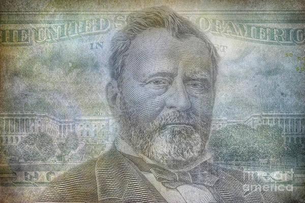 Wall Art - Digital Art - Grant On Fifty Dollar Bill by Randy Steele