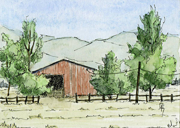 Painting - Grantsville Farm Scene by David King