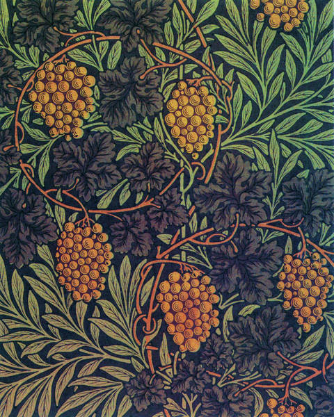 Wall Art - Painting - Grape - Digital Remastered Edition by William Morris