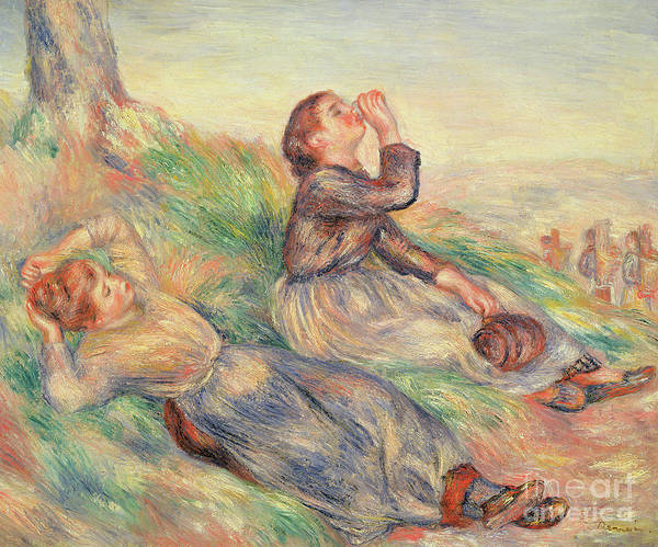 Wall Art - Painting - Grape Gatherers Resting, 1884  by Pierre Auguste Renoir
