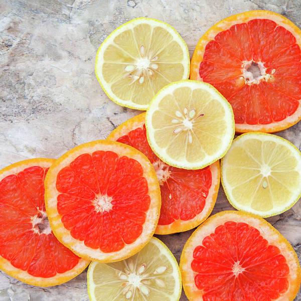 Styling Photograph - Grapefruit And Lemon by Flavia Morlachetti