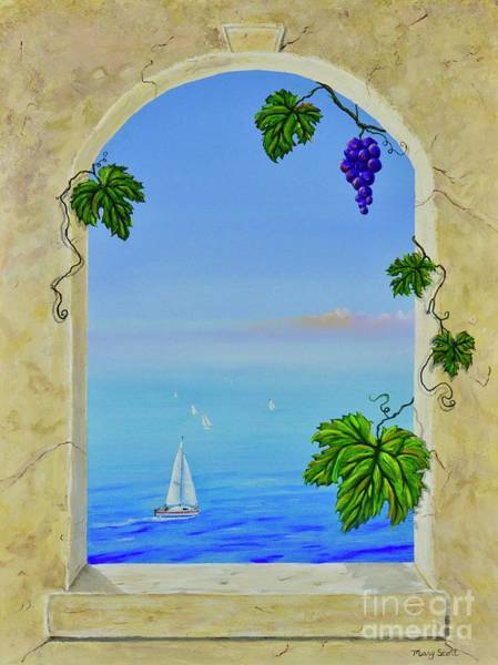 Painting - Grapeful View by Mary Scott