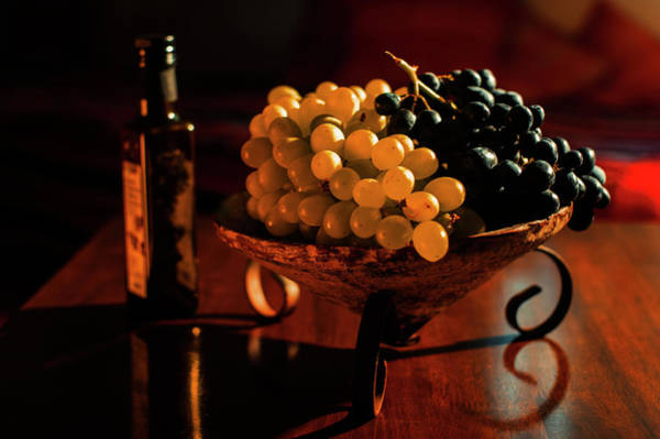 Wall Art - Photograph - Bowl Of Grapes by Cassi Moghan