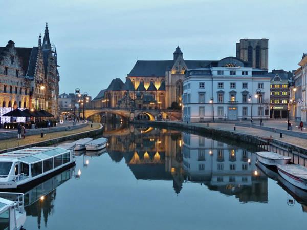 Belgium Photograph - Graslei, Leie En Korenlei by By Johnny Cooman, Belgium.