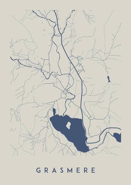 Grasmere Map Art Print