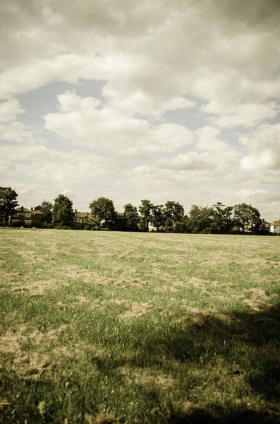 Residential Area Photograph - Grassy Field And Sky Scenic Landscape by Jaminwell