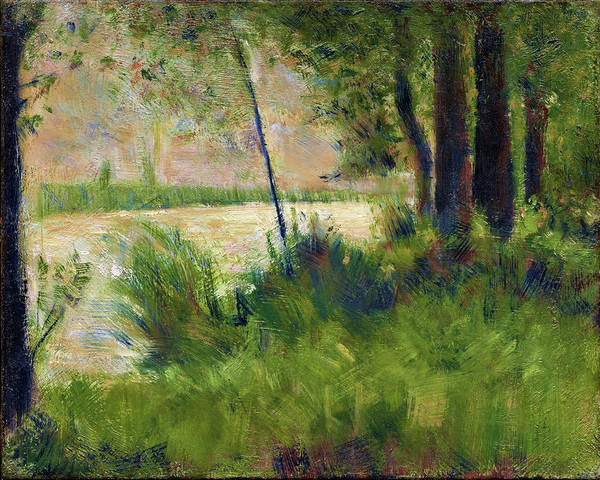 Wall Art - Painting - Grassy Riverbank - Digital Remastered Edition by Georges Seurat